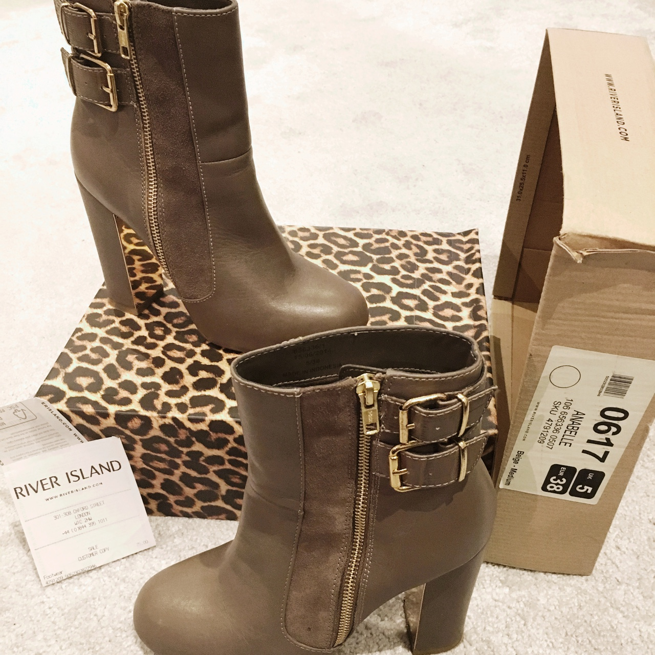 River Island Boots Size 5 Worn once