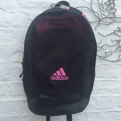 746855d3f9 @hazeloguz. 3 years ago. Watford, Hertfordshire, UK. Vintage Adidas  rucksack backpack bag. Retro 90s sportswear.