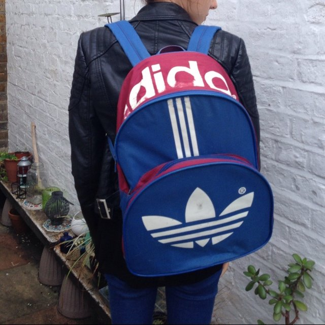a6bc20d438 @hazeloguz. 5 years ago. Watford, United Kingdom. Vintage Adidas rucksack  backpack bag. Retro 80s sportswear.