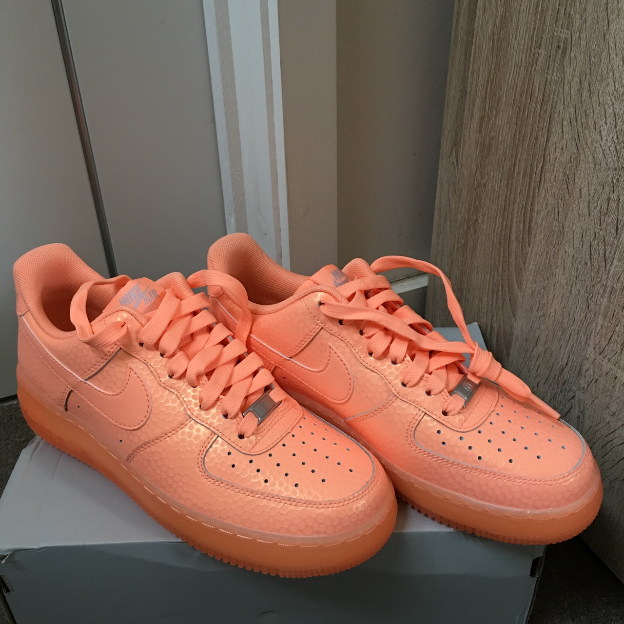 Nike Air Force 1 sunset glow UK size 6.5. Never been Depop