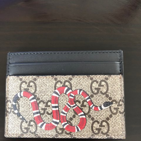 e61d67d6f553 @tbelson. 2 months ago. Leicester, United Kingdom. Genuine Gucci snake card  holder.