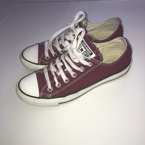 f29b96fe08728c Barely worn maroon  burgundy converse size 5 Few marking