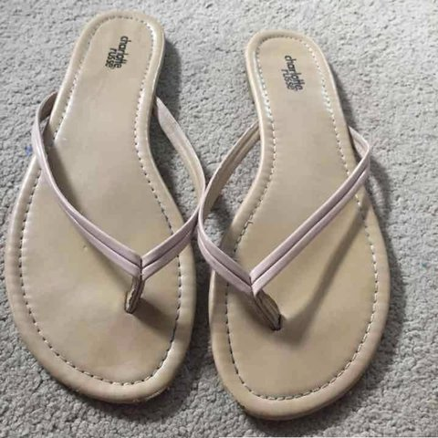 66f911d1806 Gently worn pink strappy dressy flip flops! Some minor but - Depop