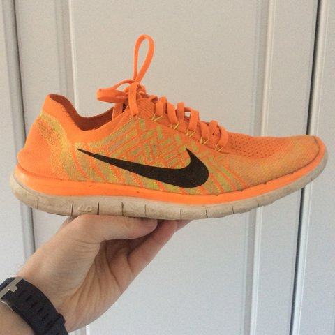88bb2b9bfb1c Nike Free 4.0 Flyknit. Quality running shoes used a dozen UK - Depop