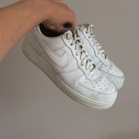 31f1e4fc58c84 @ryspicer69. 2 years ago. Bournemouth, United Kingdom. All white Nike  airforce 1 low, worn only once still in great condition ...