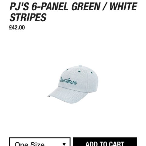 9800124e27e9 FW17 Palace jeans 6-panel green white. Dead stock unworn for - Depop