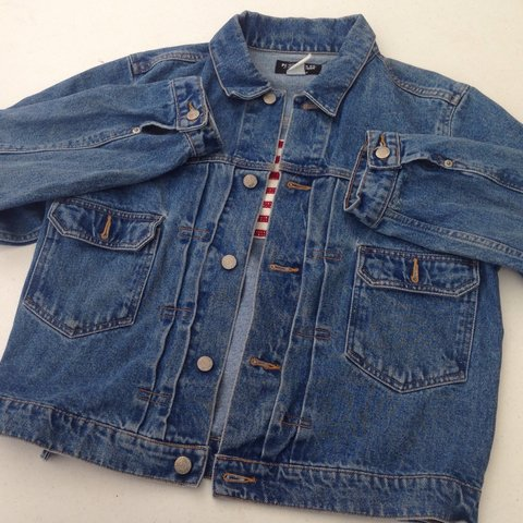 8e92f3f0a8 Vintage Polo Ralph Lauren denim jean jacket size M in mens. - Depop