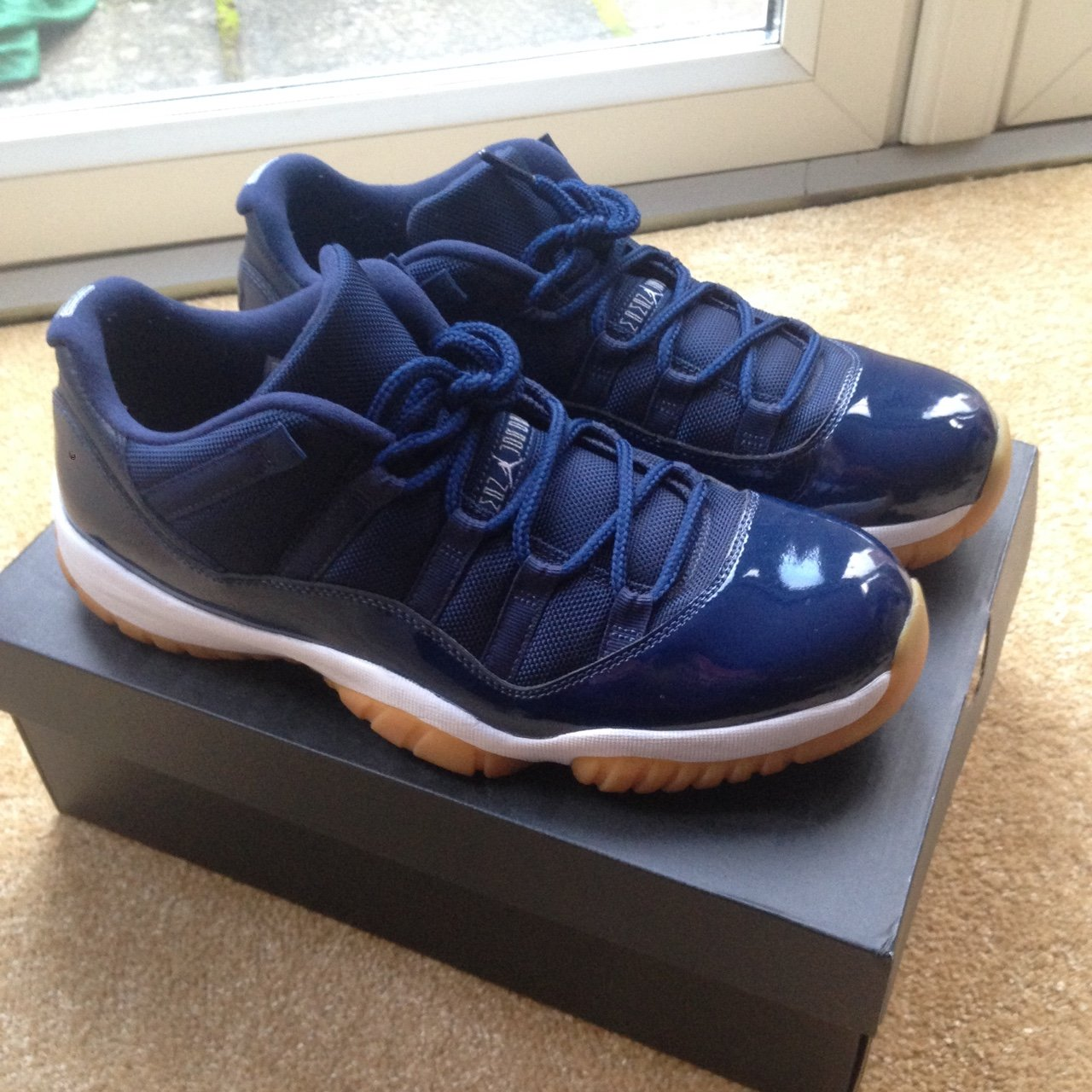 Nike Air Jordan 11 midnight navy blue. Size UK9.5 condition - Depop 6f2800ebd