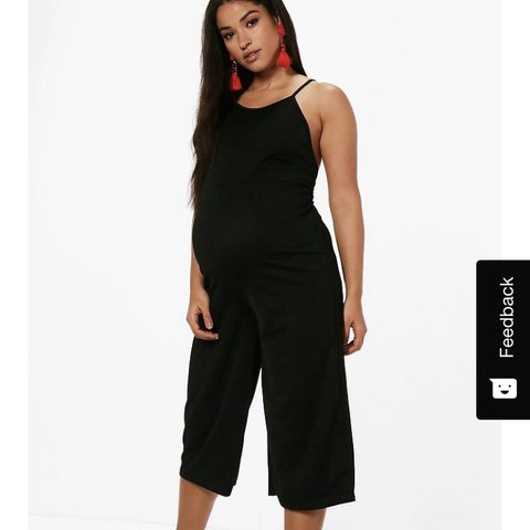 0738bdb2210e Maternity black jumpsuit size 10. Still has tags on and - Depop