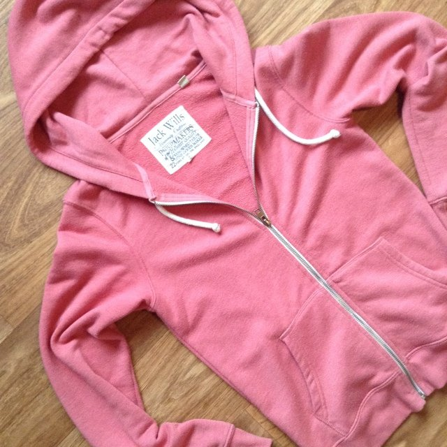 Pink Jack Wills Zip-Up Hoodie With Emblem On Back. Selling this UK ...