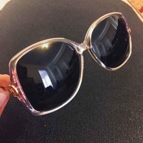 ef161cee36a Ladies True Vintage Gucci Sunglasses Awesome condition Clear - Depop