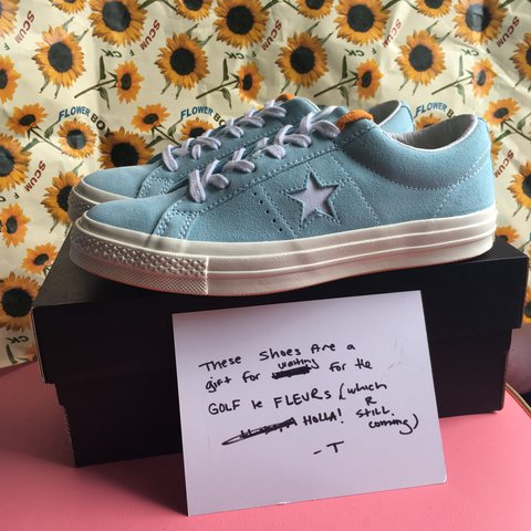 TYLER THE CREATOR Golf Wang 💦🌻 sold out Converse one stars - Depop eb800903e