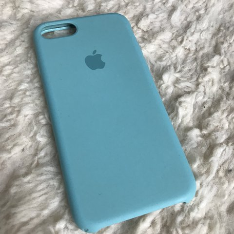 new concept 5c244 34217 iPhone 7 silicone case - actual Apple case. In teal... - Depop
