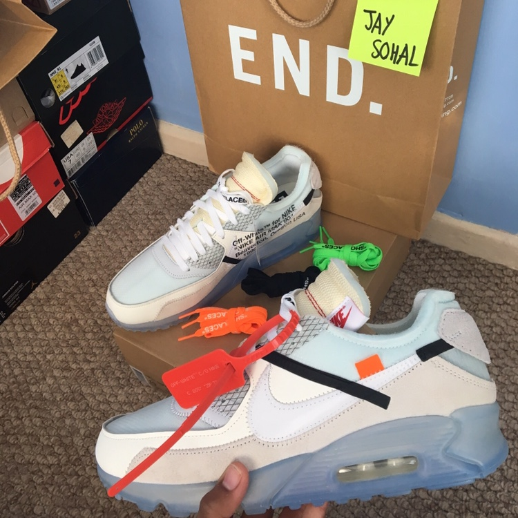 Nike x Off White Air Max 90 - Size UK 9