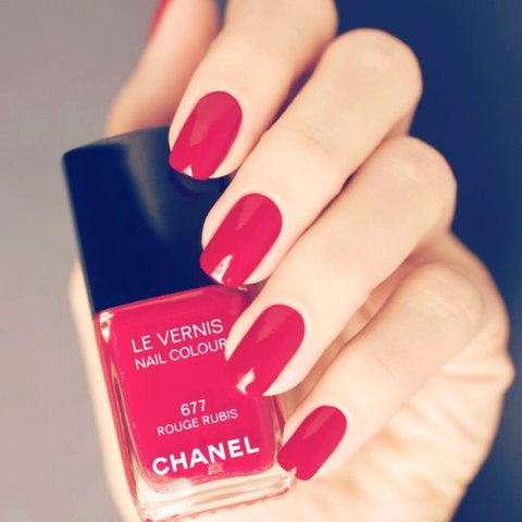 CHANEL nail polish - 677 Rouge Rubis red. Without packaging - Depop
