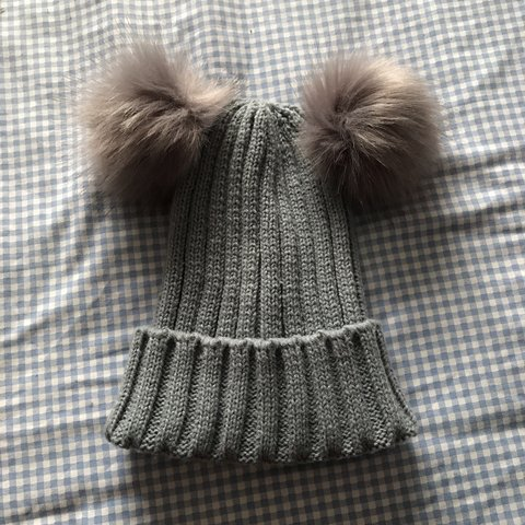 02c5e08de6f7c Fluffy cosy hat with fur pom poms