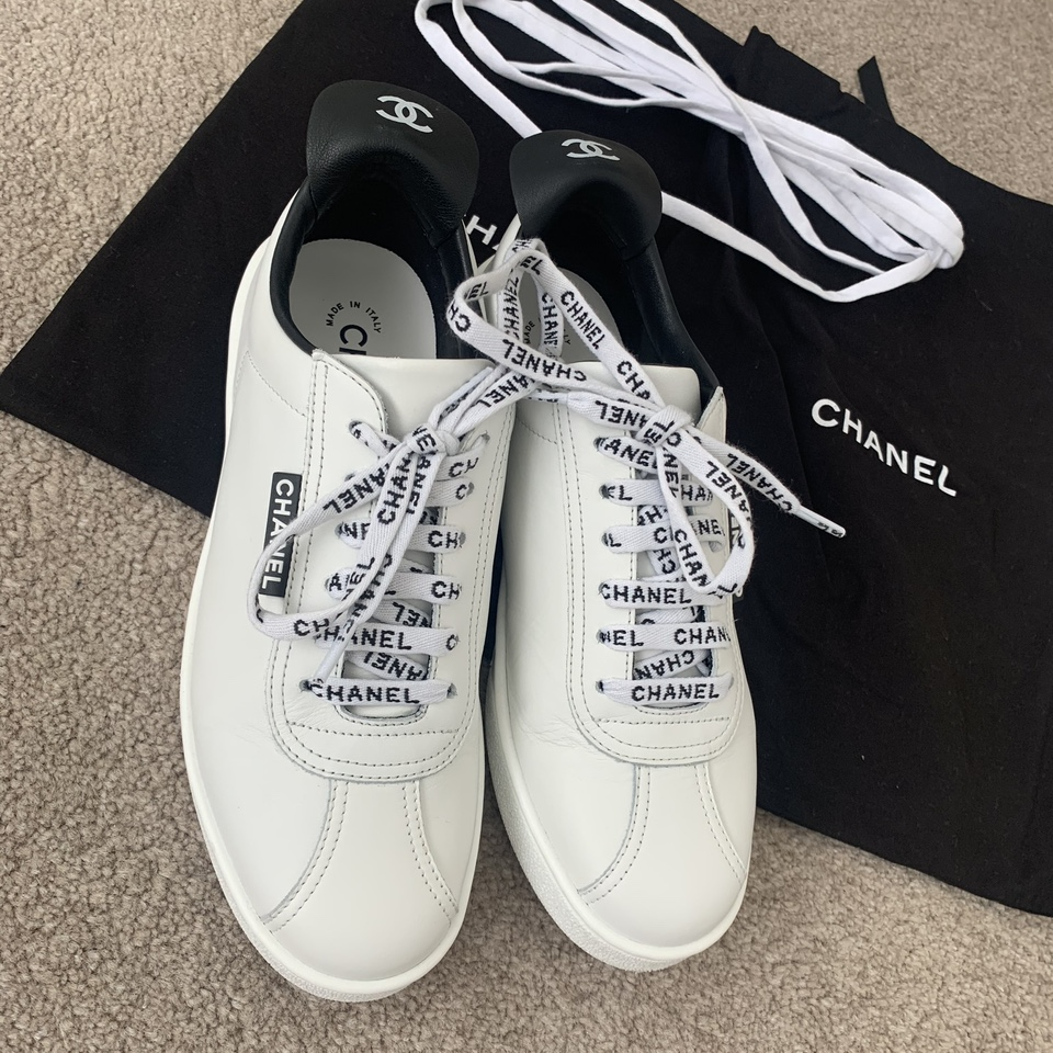 Chanel trainers with Chanel laces and