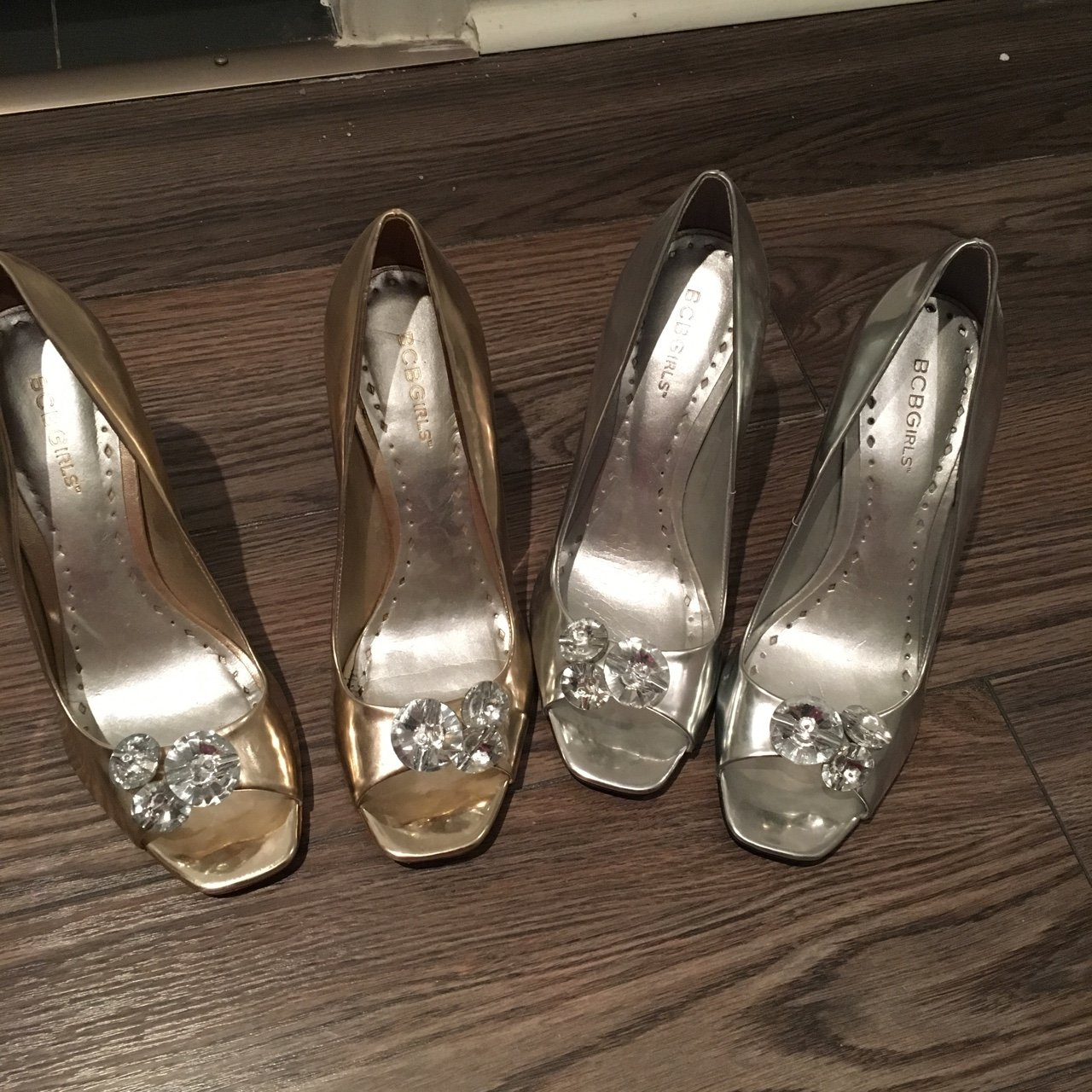 62787ccb8a Bcbg girls shoes silver are new and gold are worn. 2 for the - Depop