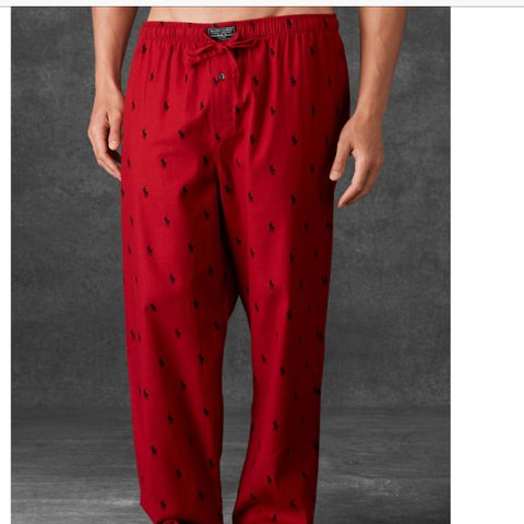 e9ec74c6cf1ba Polo Ralph Lauren pony all over pajama pants in red with a a - Depop