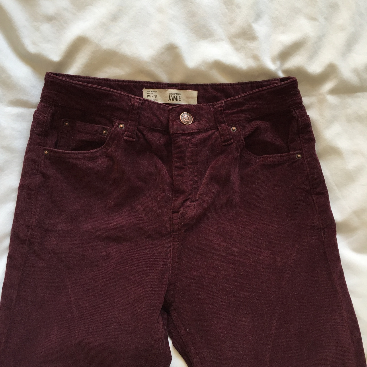 no sale tax the best various styles Topshop Jamie burgundy plum cord jeans / trousers,... - Depop