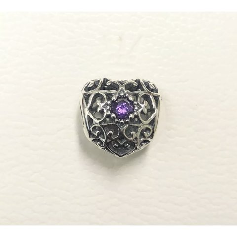 b83202803 @1stepcheaper. 12 days ago. Fontana, United States. Pandora February  Signature Heart Charm, Purple ...