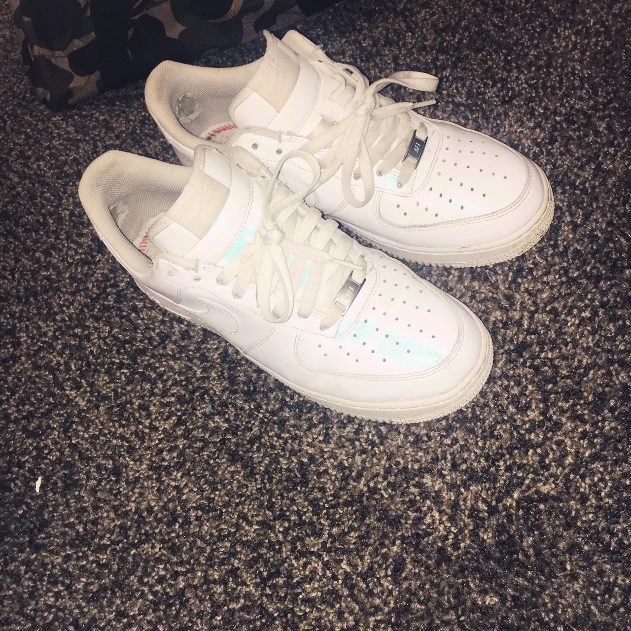 Nike Air Force 1 size 9 used white Depop