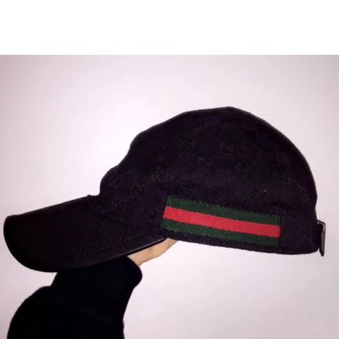 2401bf3664689 Here for sale in my authentic Black Gucci Cap in size cap in - Depop
