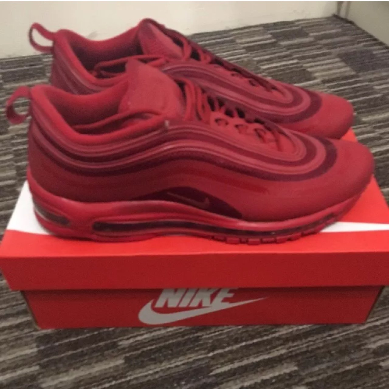 Nike Air Max 97 Hyperfuse Gym Red UK 9.5 Very good overall a7ae2e178