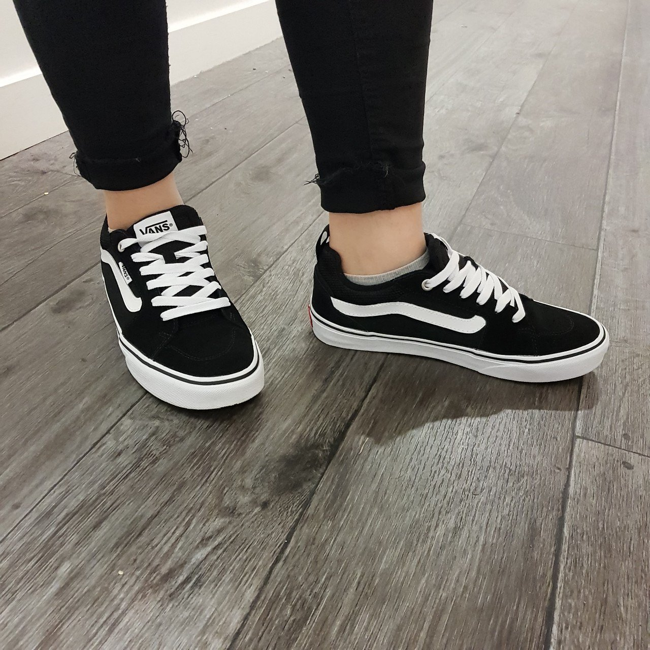 d771952436 Vans Filmore S Snr94 Suede canvas black and white  Worn only - Depop