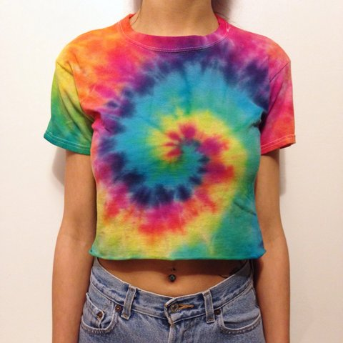 5802dfb50a39d Tie Dye Crop Top Rainbow T-Shirt 🌈 Model is 5 5