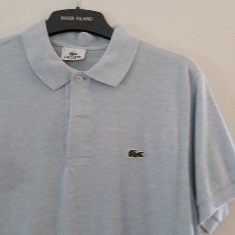 2415afd24 Lacoste mens polo top in light blue. Worn once in great Size - Depop