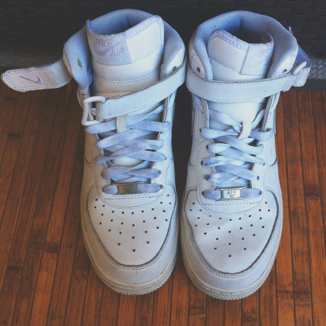 nike air force alte bianche
