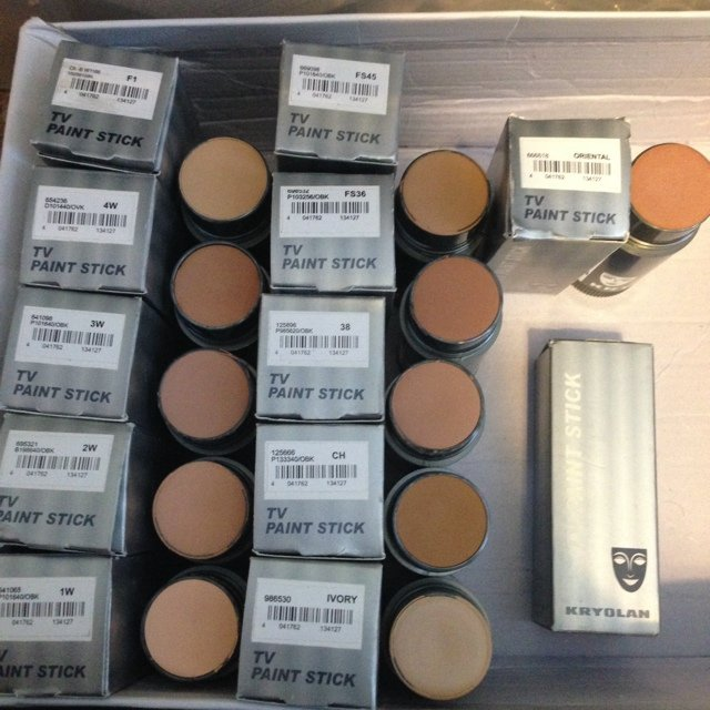 Kryolan. Tv paint sticks. Authentic.- 0