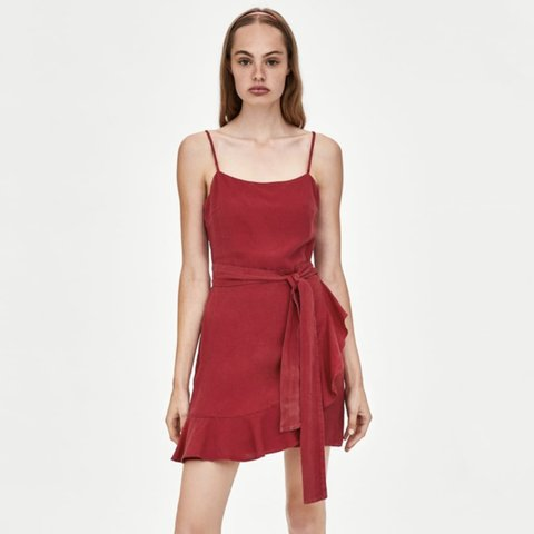 9294b8e3 @oliviacroxford. 29 days ago. Southampton, United Kingdom. Zara red wrap  mini dress. Worn once on holiday. Excellent condition. Message me before  purchasing
