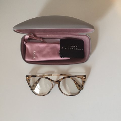 076fb55e18fd BNWT Zara Clear Lens Glasses. They are a tortoise shell with - Depop