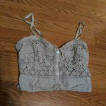 35d01fa286 zenana outfitters white lace bandeau bralette. never worn
