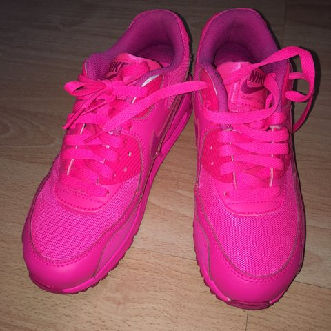 30ed13ce74ae1 Nike Air Max 90 Hyper Pink GS Trainers. Worn 2-3 times with - Depop