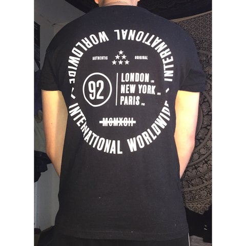 24cc62513 @mvttgc. 2 years ago. Manchester, United Kingdom. Topman black muscle fit  Tee Shirt with sewn roll sleeves ...