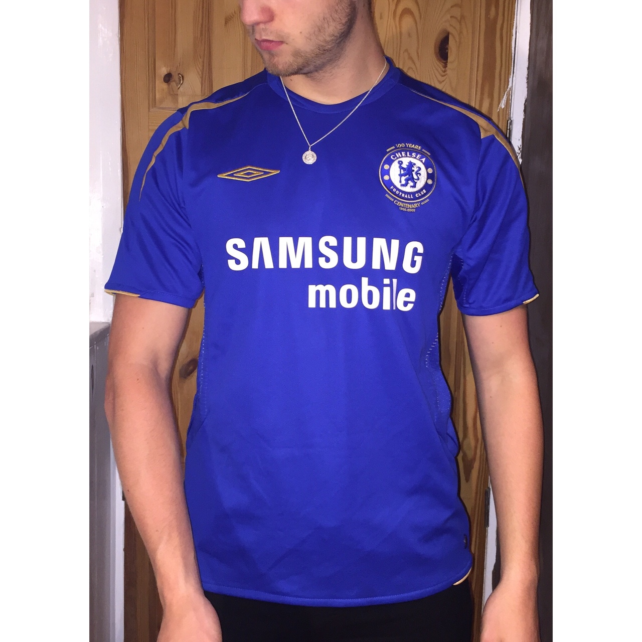 new style e50bc a9148 Iconic Centenary CFC Chelsea 2005 blue home kit... - Depop