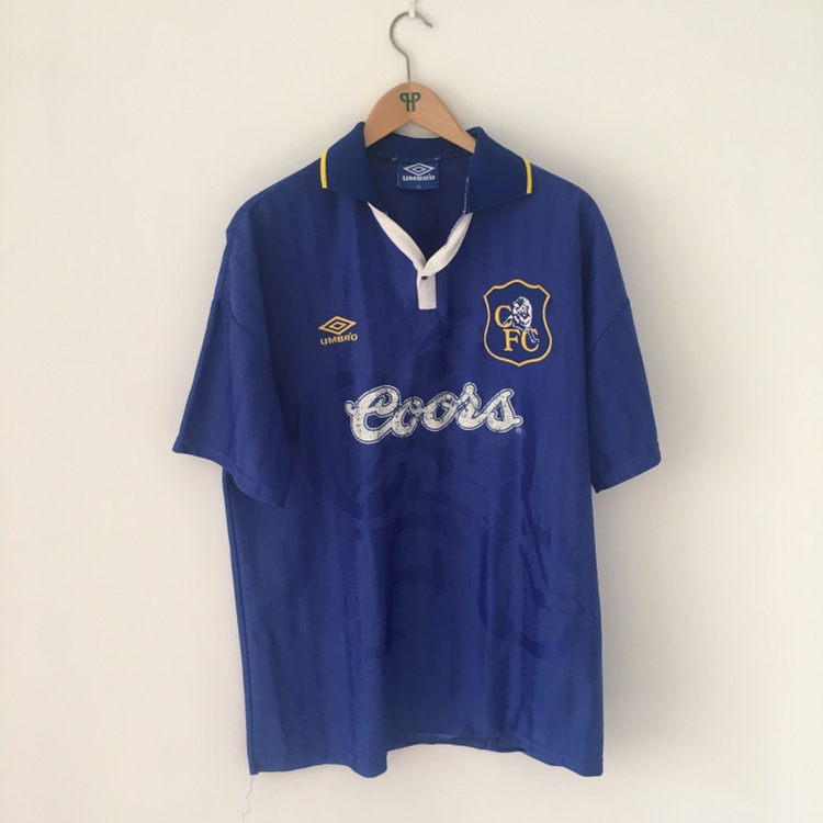 watch f2433 8d803 Chelsea home Kit from 1995, sponsored by Coors -... - Depop