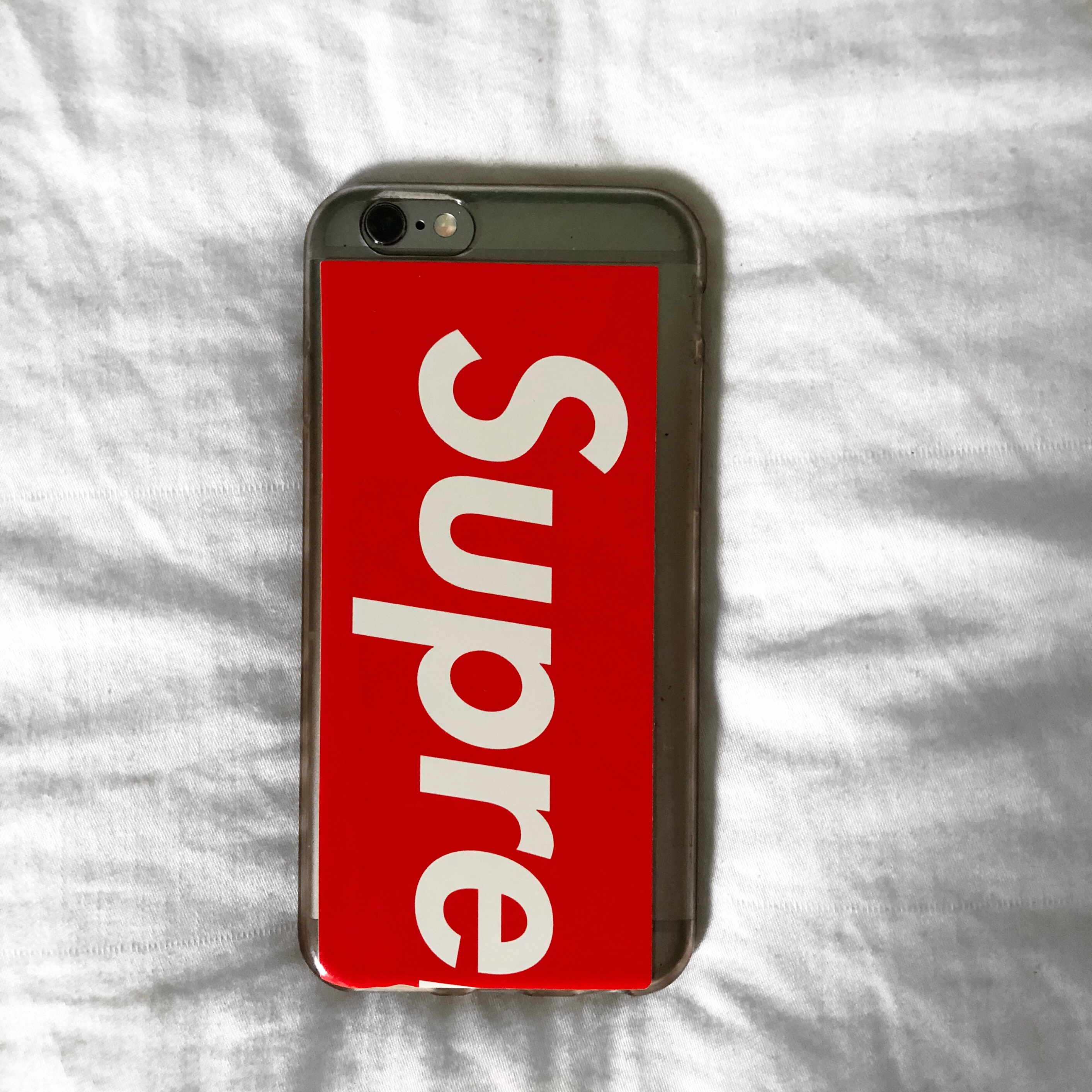 official photos 27f89 61585 Supreme IPhone 6/6s/7/8 case. the sticker is 100%... - Depop