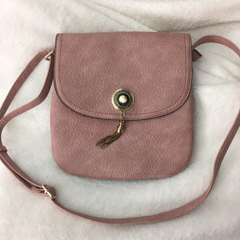 fae5425a91 @whateverfloats. last year. Austin, United States. Cute mauve blush pink  long strap purse ...