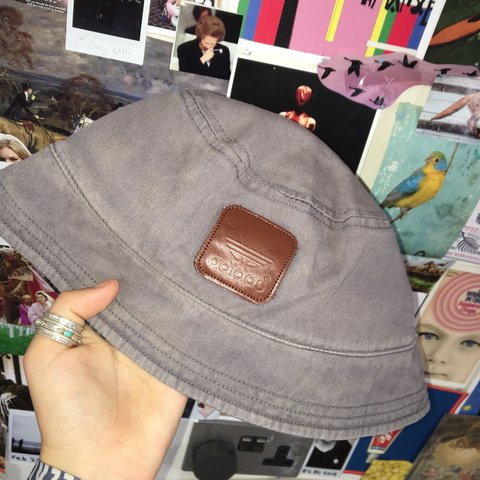 4208f595 bless grey adidas bucket hat , calm condition. Pm me 4 Qu's - Depop