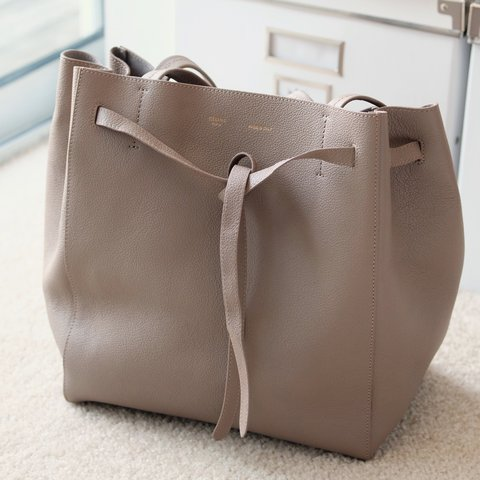 45bb45e9a231 Celine Small Cabas Phantom in Soft Grained Calfskin Taupe