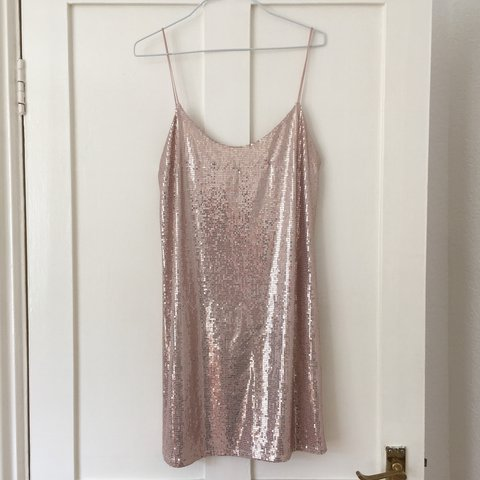 5f8b371c @livliv999. last year. London, United Kingdom. Gorgeous sequin backless  slip dress from zara ...