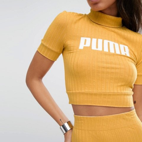 0cd3bf0b343306 Puma yellow crop top. (Note  just the top not the skirt) Was - Depop