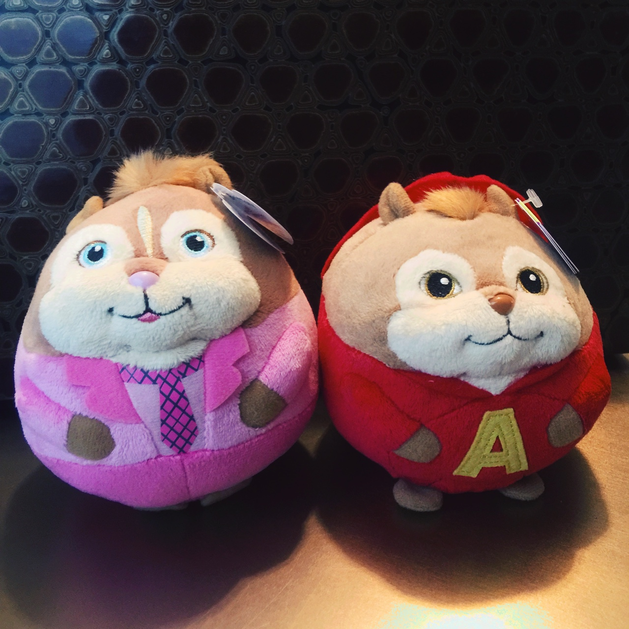 Alvin And The Chipmunks Alvin And Brittany alvin & brittany beanie ballz!!