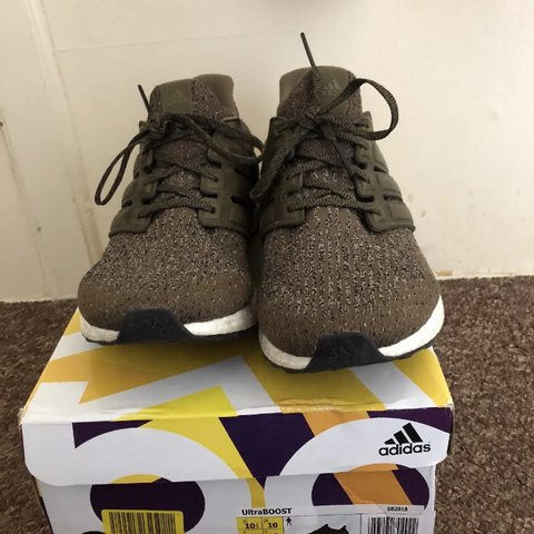 90c3c0bd0 Adidas ultra boost dark green  olive leather cage instead of - Depop