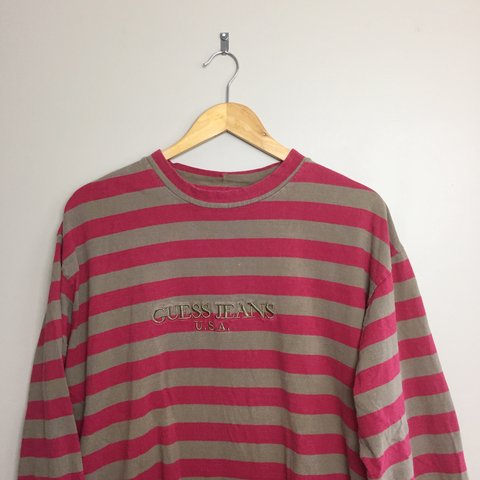 7e5e4773cf99 @zdog0408. 8 months ago. Mount Joy, United States. Vintage Guess Jeans  Striped longsleeve tee. In good condition ...