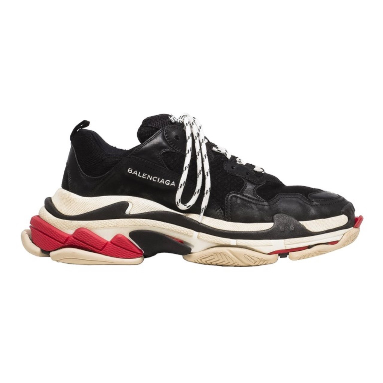 4183d8a3b676 Balenciaga triple S trainers   sneakers in black Red and 43 - Depop